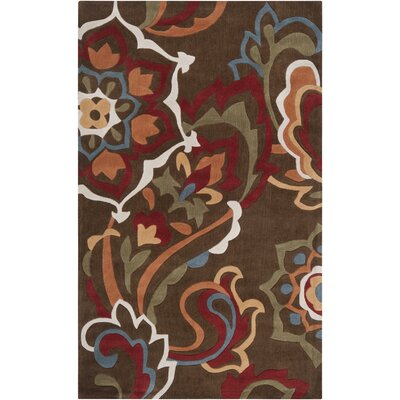 Deveau Green Rug Rug Size: 36 x 56