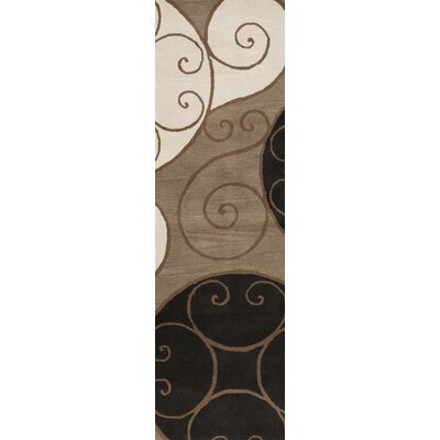 Diana Brown Area Rug Rug Size: Oval 6 x 9