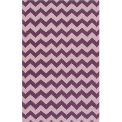 Diego Berry/Light Orchid Chevron Area Rug Rug Size: Runner 26 x 8