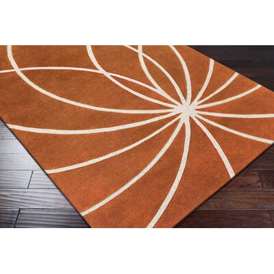 Dewald Carmine/Antique White Area Rug Rug Size: Square 8