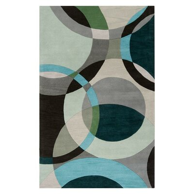 Dewald Gray/Light Celadon Area Rug Rug Size: Rectangle 4 x 6