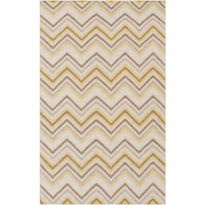 Diego Brown & Tan Chevron Area Rug Rug Size: 2 x 3