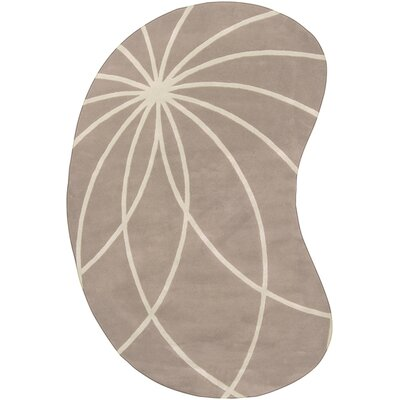 Dewald Tan/Antique White Area Rug Rug Size: Round 6