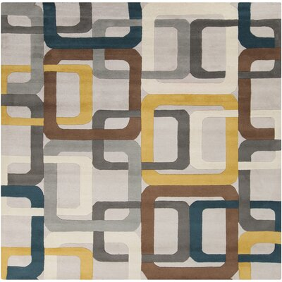 Dean Flint Gray Area Rug Rug Size: Square 6