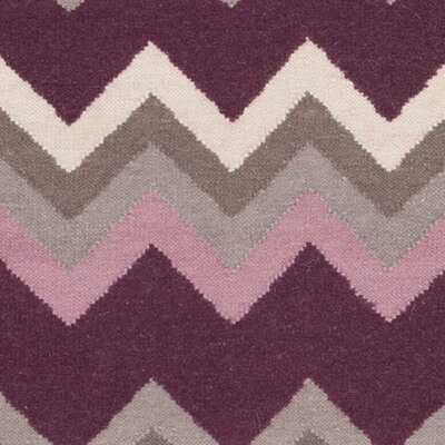 Marion Prune Purple/Flint Gray Chevron Area Rug Rug Size: 36 x 56