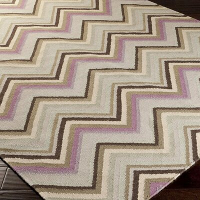 Diego Rosy Mauve Brown Chevron Area Rug Rug Size: Rectangle 8 x 11