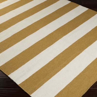 Harietta Wasabi/Pale Blue Striped Area Rug Rug Size: 9 x 13
