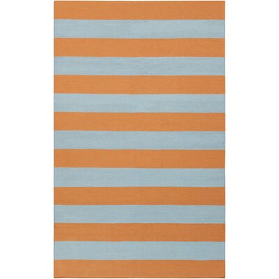 Harietta Dark Goldenrod/White Striped Area Rug Rug Size: Rectangle 9 x 13