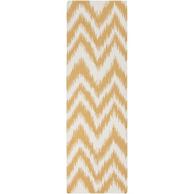 Marion Golden Raisin & Ivory Zig Zag Area Rug Rug Size: Rectangle 2 x 3