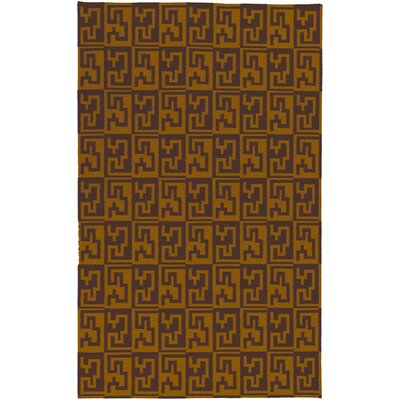 Marion Brown & Golden Raisin Area Rug Rug Size: 2 x 3