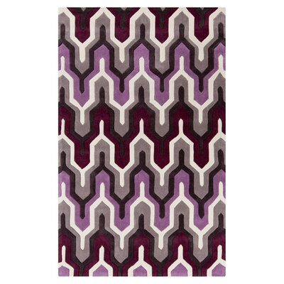 Elisa White/Raspberry Rose Rug Rug Size: Rectangle 8 x 11