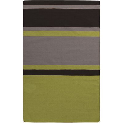 Marion Lime Striped Area Rug Rug Size: 2 x 3