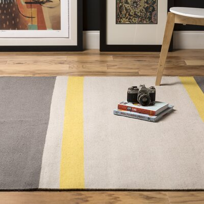 Marion Gray Striped Area Rug Rug Size: Rectangle 2' x 3'