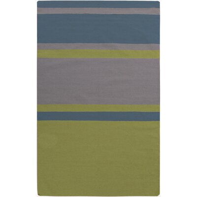 Marion Gray Striped Area Rug Rug Size: 36 x 56