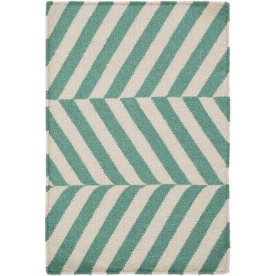 Diego Beige/Green Area Rug Rug Size: Rectangle 2 x 3