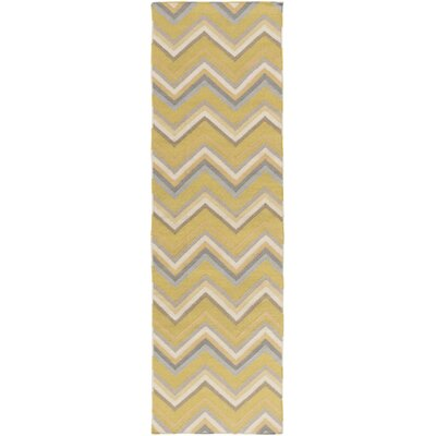 Diego Moss Gold Area Rug Rug Size: Rectangle 8 x 11
