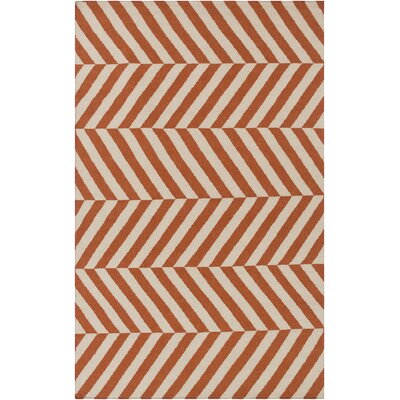 Diego Rust/Ivory Area Rug Rug Size: Rectangle 5 x 8