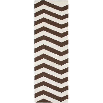 Diego Chocolate & Ivory Area Rug Rug Size: Rectangle 36 x 56