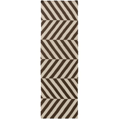 Diego Ivory/Mocha Geometric Area Rug Rug Size: Rectangle 5 x 8