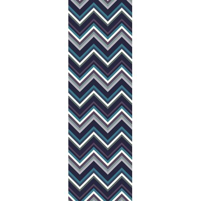 Diego Navy Area Rug Rug Size: Rectangle 36 x 56
