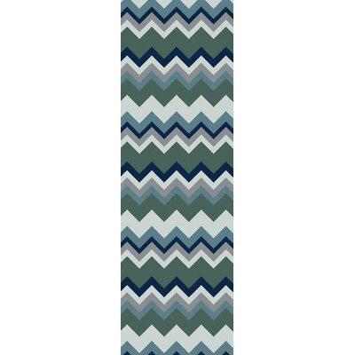 Diego Forest Chevron Area Rug Rug Size: Rectangle 2 x 3