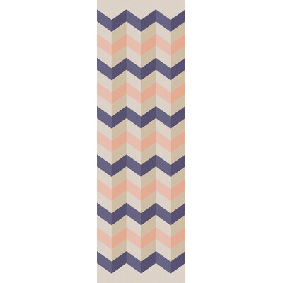 Diego Ivory/Salmon Area Rug Rug Size: Rectangle 2 x 3
