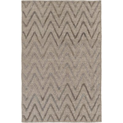 Rachelle Hand-Woven Medium Gray/Charcoal Area Rug Rug size: Rectangle 4 x 6