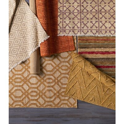 Rachelle Hand-Woven Camel/Beige Area Rug Rug size: Rectangle 5 x 76