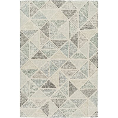 Digby Hand-Tufted Medium Gray Area Rug Rug size: Rectangle 4 x 6