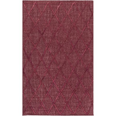 Rachelle Hand-Woven Burgundy/Garnet Area Rug Rug size: Rectangle 2'3
