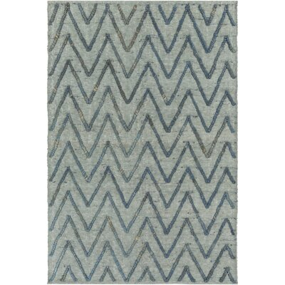 Rachelle Hand-Woven Teal/Bright Blue Area Rug Rug size: Rectangle 5 x 76