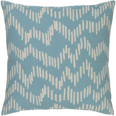 Deana 100% Cotton Throw Pillow Cover Color: BlueNeutral, Size: 20 H x 20 W x 1 D