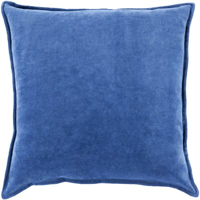 Carey Velvet Pillow Cover Size: 22 H x 22 W x 1 D, Color: Dark Blue