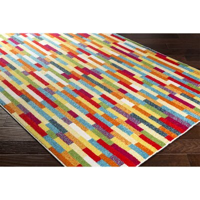 Dillsboro Rectangle Neutral/Red Area Rug Rug Size: Rectangle 711 x 1010