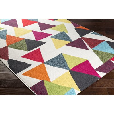 Elliot Neutral/Black Area Rug Rug Size: 2 x 37