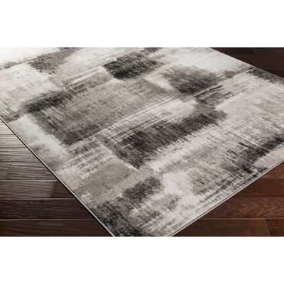 Dimmick Gray Area Rug Rug Size: Rectangle 39 x 52