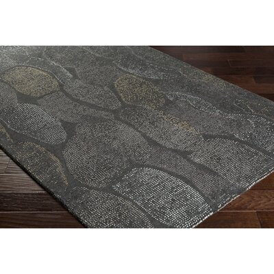 Digby Hand-Tufted Gray Area Rug Rug Size: Rectangle 5 x 76
