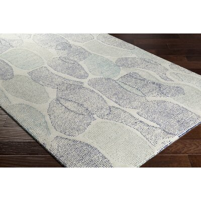 Digby Hand-Tufted Gray/Blue Area Rug Rug Size: Rectangle 5 x 76