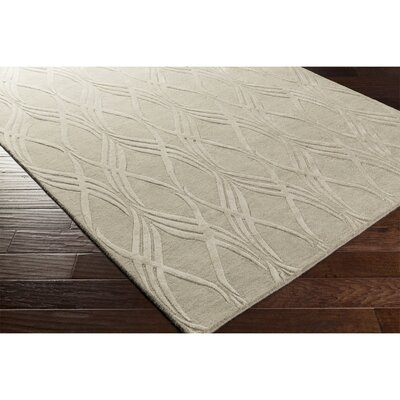 Dionne Hand-Tufted Neutral Rectangle Area Rug Rug Size: Rectangle 5 x 76
