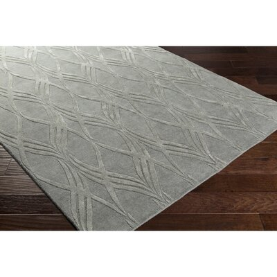 Dionne Hand-Tufted Rectangle Gray Area Rug Rug Size: Rectangle 5 x 76