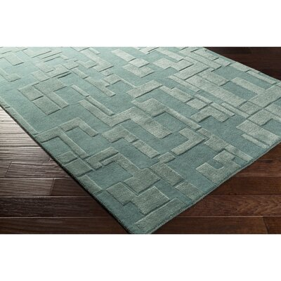 Dionne Hand-Tufted Rectangle Blue Area Rug Rug Size: 2 x 3