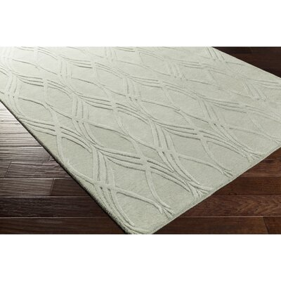 Dionne Hand-Tufted Green Area Rug Rug Size: Rectangle 5 x 76