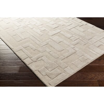 Dionne Hand-Tufted Gray Geometric Area Rug Rug Size: Rectangle 5 x 76