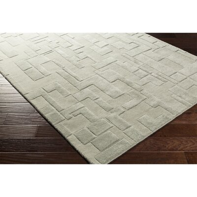 Dionne Hand-Tufted Gray Area Rug Rug Size: Rectangle 8 x 10