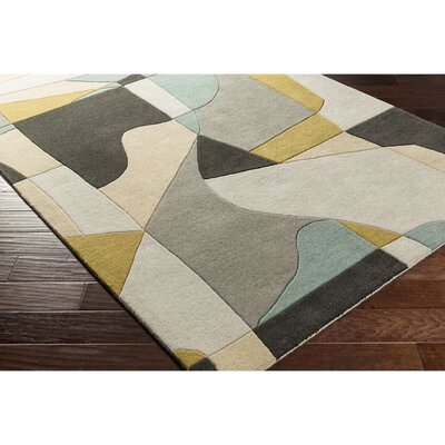 Dean Hand-Tufted Green/Blue Area Rug Rug Size: Round 6