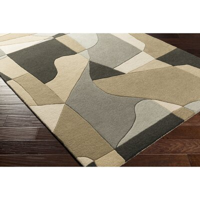 Dewald Hand-Tufted Gray Area Rug Rug Size: Rectangle 12 x 15