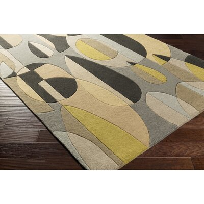 Dewald Hand-Tufted Black/Brown Area Rug Rug Size: Round 6