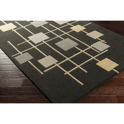 Dewald Hand-Tufted Brown Area Rug Rug Size: Round 4