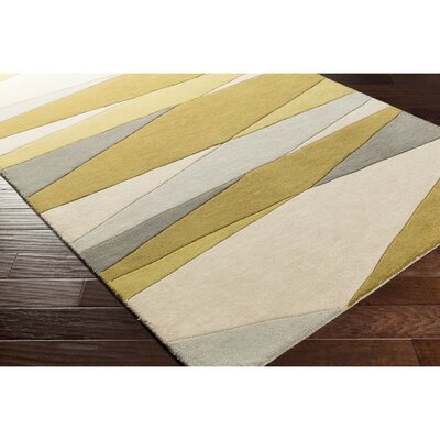 Dean Hand-Tufted Green/Neutral Area Rug Rug Size: Square 6