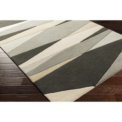 Dean Hand-Tufted Gray/Beige Area Rug Rug Size: Novelty 6 x 9